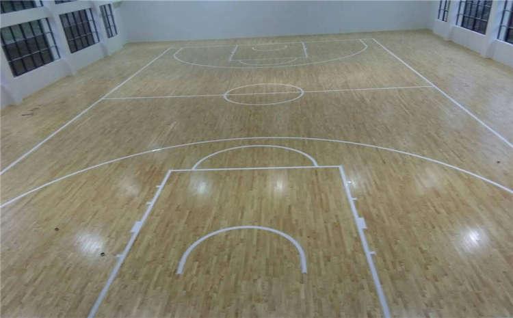 篮球场实木运动地板安装