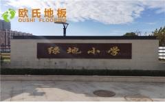 上海丰庄绿地小学舞台木地板案例