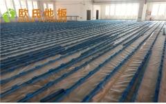 乌鲁木齐乌苏市南区第二中学体育馆木地板项目